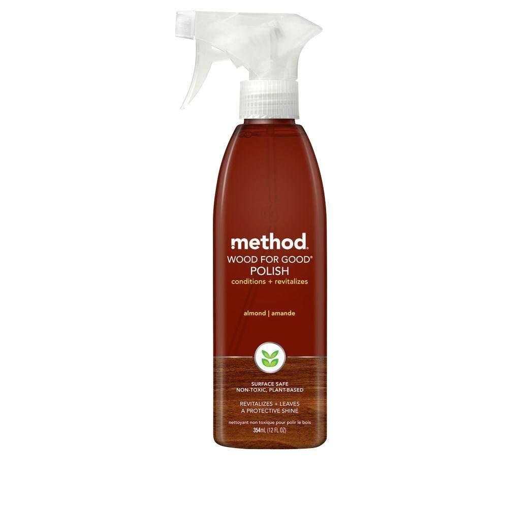 Method Wood Polish Spray Almond 354ml (Pack of 3)