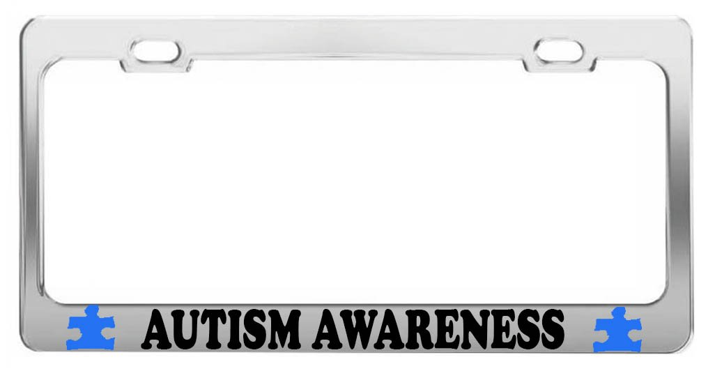 Amazon.com: AUTISM AWARENESS TAG LICENSE PLATE FRAME CAR ACCESSORIES ...