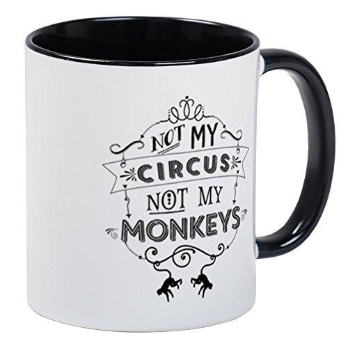 CafePress Not My Circus, Not My Monkeys Mugs Unique Coffee Mug, Coffee Cup