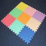 Babz 9 Piece Interlocking Soft Kids Baby EVA Foam Activity Play Mat Floor Tiles