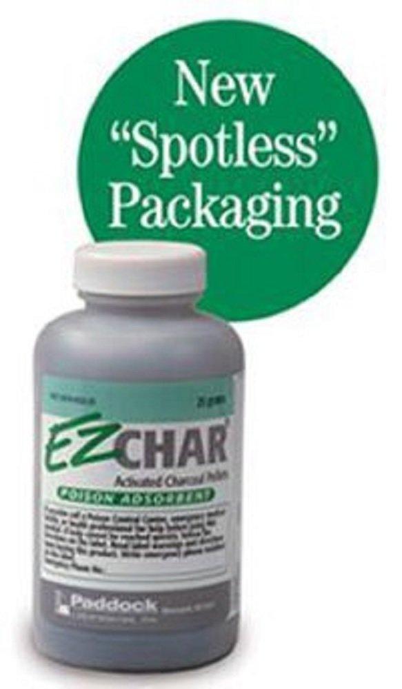 EZ CHAR ACTIVATED CHARCOAL PELLETS 25 gm per Bottle (6 Bottles)
