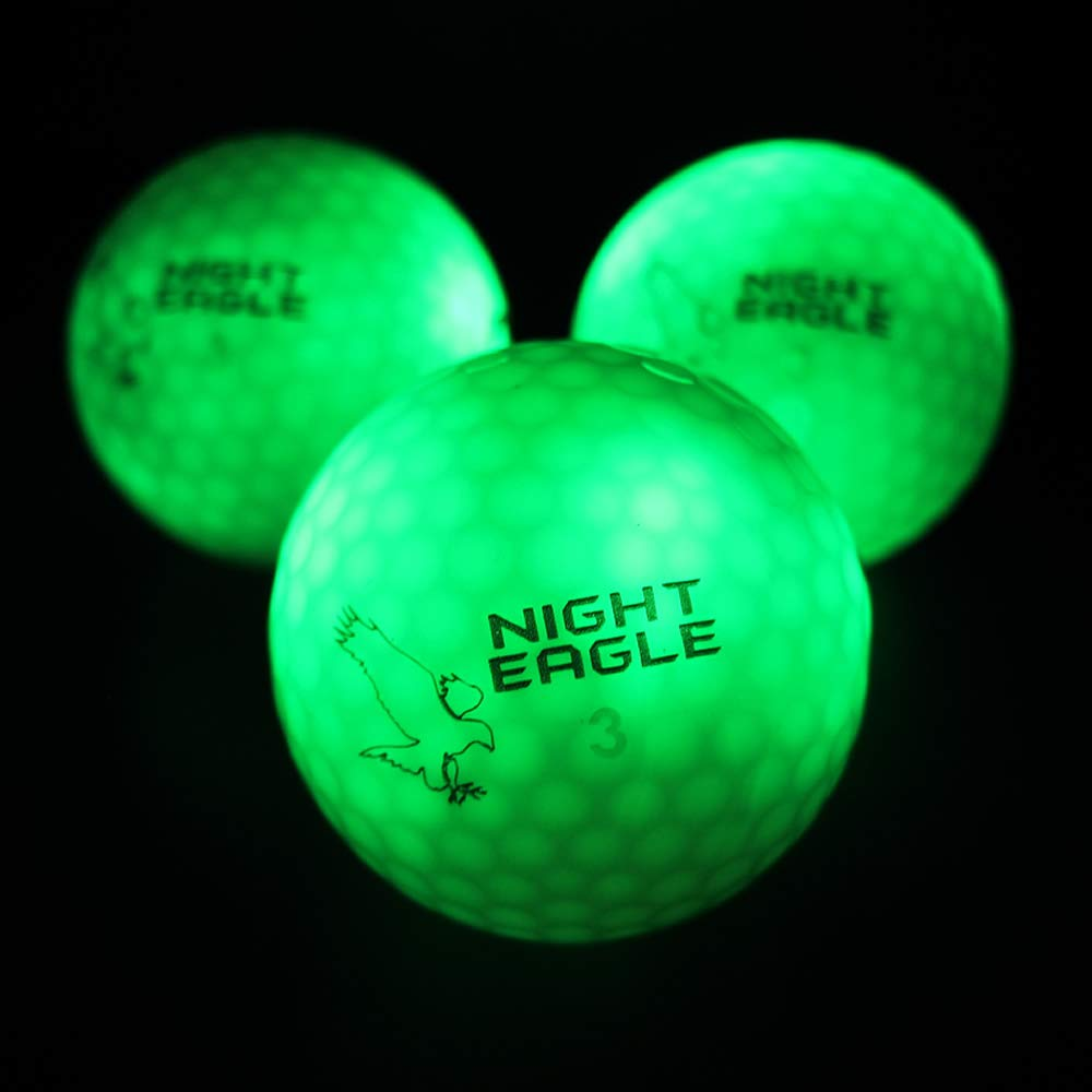Night Eagle Light Up LED Golf Balls - 6 Ball Pack (Green) by Night Eagle