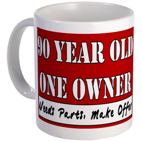 CafePress 90th Birthday Mug - S White