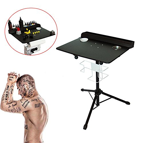 Price comparison product image Portable Tattoo Workstation, Adjustable Height stand Salon Instrument Tattoo Table