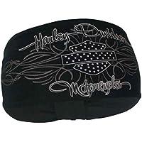 Harley-Davidson Studded Rhinestone de la mujer B & S SIGNATURE Diadema, Negro hp21530