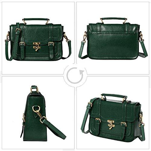 bandouliere petit loisirs retro sac a pour sac sac pour femme Marron a cuir sac main femmes en Grand Leathario sac sac Vert sac epaule femme veritable cuir portable petit TtwOxIqP