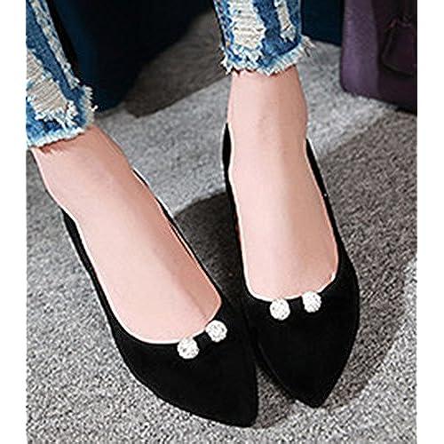 fcd6e589559 chic Sfnld Women s Elegant Rhinestone Pointed Toe Low Heels Pumps Shoes