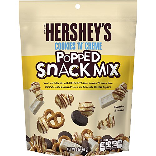 (Hershey's Cookies 'N' Creme Popped Snack Mix, 8 oz )