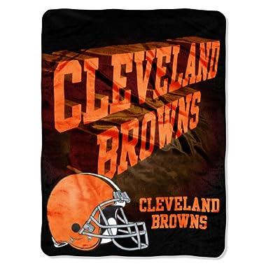 NFL Cleveland Browns 60-Inch-by-80-Inch Micro Raschel Blanket,  Bevel  Design