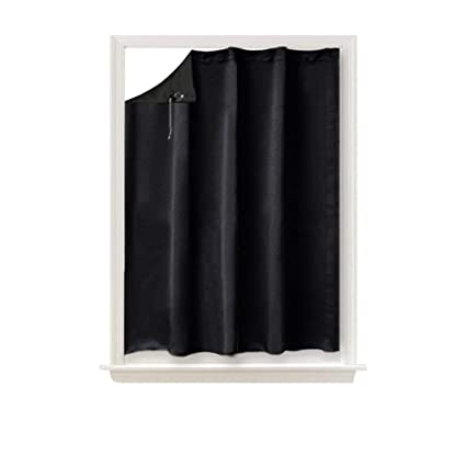 NICETOWN Blackout Shade Curtain Temporary Blinds Versatile Anywhere Portable Lightweight Drape With Suction Cups For Door