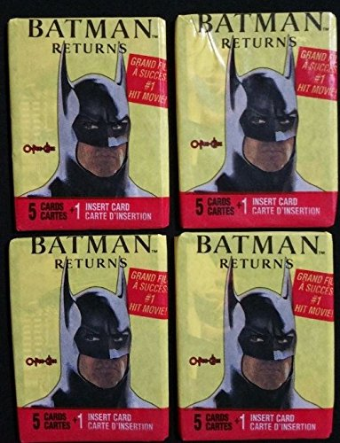1992 Batman Trading Cards 4 Pack lot Unopened Non Sport