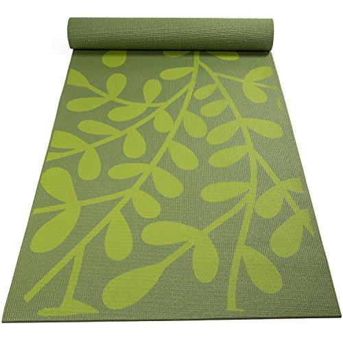 Fit Spirit Premium Printed Yoga Mat Green Olive 6mm