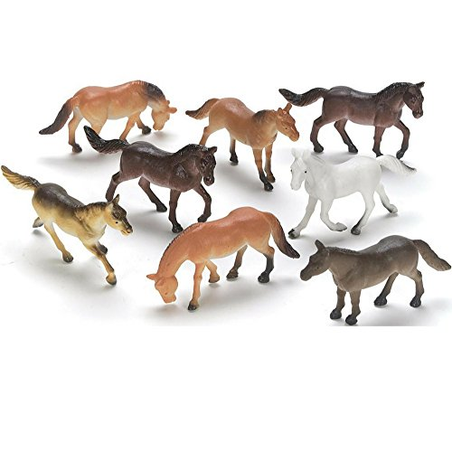 Horse Toys For Boys : Demarkco plastic horses miniature novelty toys party