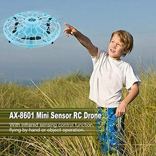 HoganeyVan AX-8601 Mini Drone RC avec Capteurs 2.4G 4CH Gyro Quadricopt/ère Fly Ball Smart Poche Incassable Safe Jouets pour Enfants