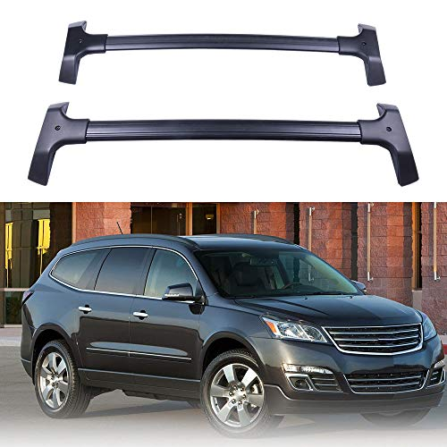 ROADFAR Roof Rack Aluminum Top Rail Carries Luggage Carrier Fit for 2009 2010 2011 2012 2013 2014 2015 2016 2017 Chevrolet Traverse Sport Utility 4-Door Baggage Rail Crossbars ()