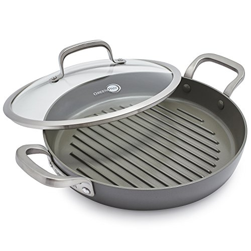 - GreenPan Pure Ceramic + Magneto Healthy Grill Pan CC000343-001