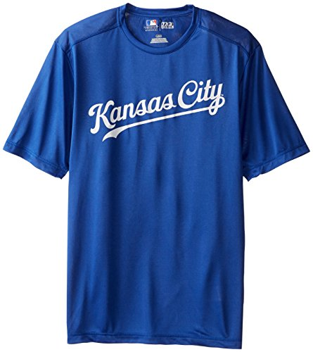 Kansas City Royals Shorts - MLB Kansas City Royals Men's Synth Mass Workmark Tee, Royal, Medium