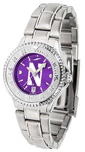 Ladies Watches Northwestern Wildcats - Northwestern Wildcats Competitor Steel AnoChrome Women's Watch