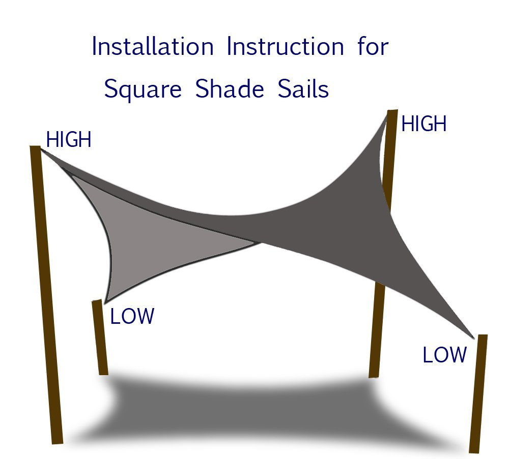 Amazon.com : Shade&Beyond 10 x 10 Beige Color Square Sun Shade Sail, UV Block for Outdoor Facility and Activities : Garden & Outdoor