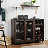 Product review for Misenia Industrial Style Walnut Sliding Door Buffet/Server