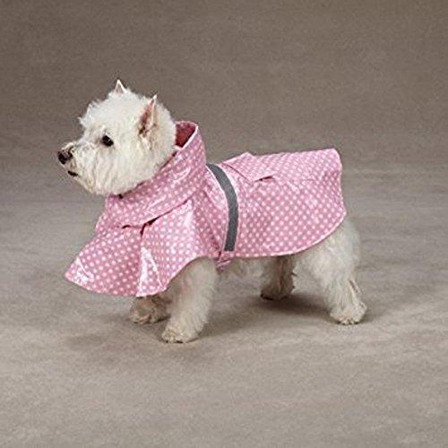 East Side Collection - Pink Polka Dot Dog Rain Coat - (East Side Collection Polka Dot)