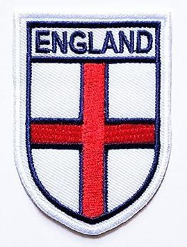 Inglaterra Inglés Reino Unido Bandera Nacional color blanco parche bordado parche hierro en coser en emblema