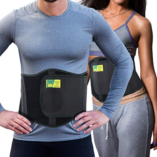 Ergonomic Umbilical Hernia Belt - Abdominal Binder for Hernia Support - Umbilical Navel Hernia Strap with Compression Pad - Ventral Hernia Support for Men and Women - Standard (24-44 in)