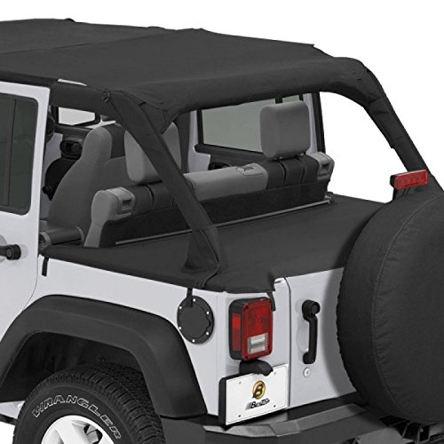 Bestop 90031-35 Black Diamond Duster Deck Cover for 07-12 Jeep 4-Door JK Wrangler by Bestop