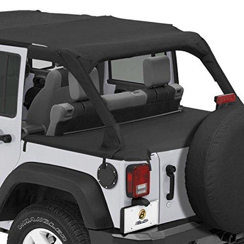 Bestop 90031-35 Black Diamond Duster Deck Cover for 07-12 Jeep 4-Door JK Wrangler
