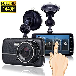 Dash Cam, Car Dash Camera for cars Vehicle Full HD 1440P Touch Screen, Dashboard Camera Car Video Recorder ,Wide Angle 170° Lens (1) …