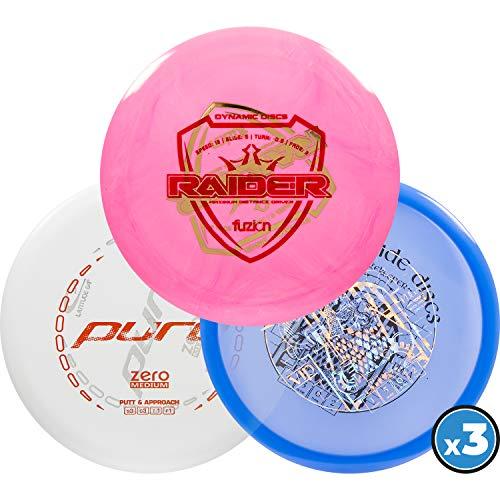 Dynamic Discs   Latitude 64   Westside Discs Misprint 3 Pack   Disc Golf Starter Pack   Frisbee Golf Discs   Disc Golf Driver   Disc Golf Midrange   Disc Golf Putter (3 Pack)