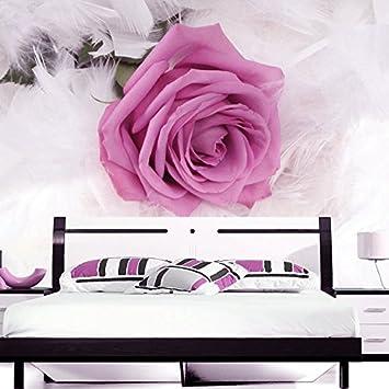 Wongxl 3d Wallpaper Rosa Lila Rosen Schlafzimmer Wohnzimmer Sofa