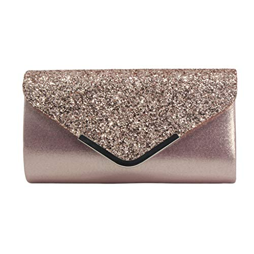 Shining Rhinestone Studded Wedding Evening Bridal Bridesmaid Clutch Purse-Sequins Leather Bag-Cocktail Party Bag