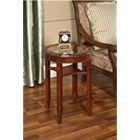 All Things Cedar Glass Tea Table, Cherry