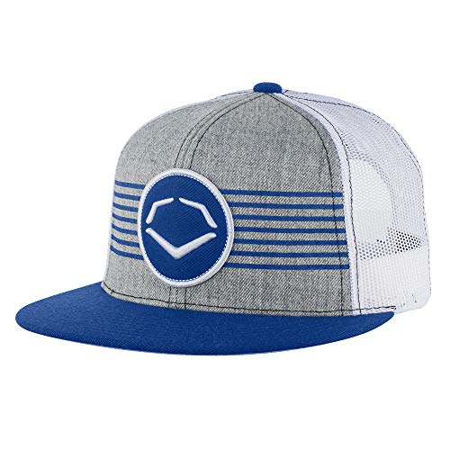 EvoShield Throwback Patch Wool Snapback Cap Grey/Royal One Size Fits Most