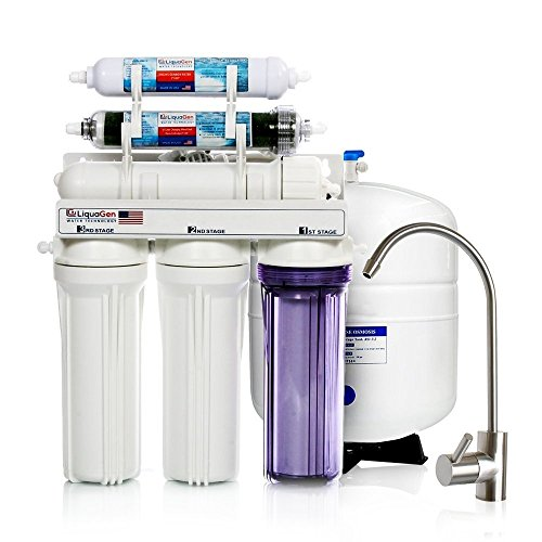 LiquaGen - 6 Stage Dual Use (Drinking & Aquarium Reef/Deionization) Residential Reverse Osmosis Water Filter System (RO/DI) (100 GPD) by LiquaGen Water Technology