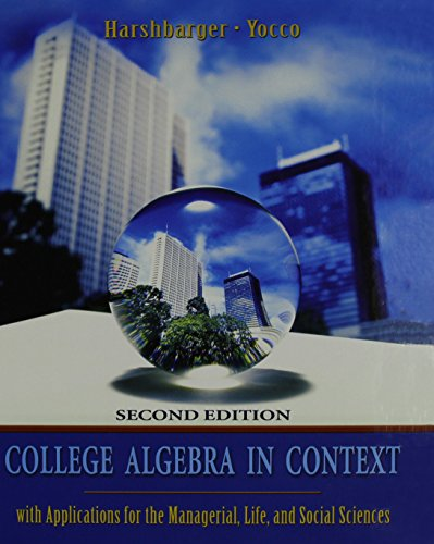 College Algebra in Context plus MyMathLab Student Starter Kit (2nd Edition)