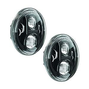 JW Speaker 8700J Black LED Headlight, Set of 2