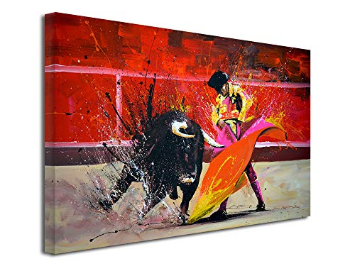 Declina - Cuadro grande con impresion sobre lienzo, decoracion de salon, lienzo moderno, reproduccion de pintura sobre lienzo Toro, 50 x 30 cm