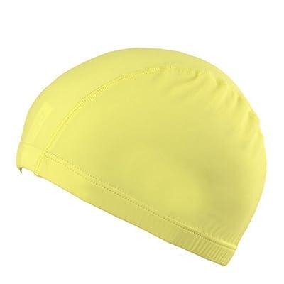 KUN PENG SHOP Bonnet de bain Adulte Tissu de couleur solide Bonnet de bain monochrome Homme Maillot de bain masculin Maillots de bain A+