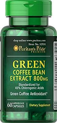 Puritan's Pride Green Coffee Bean Extract 800 mg-60 Capsules