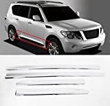 Sell by Automotiveapple, Chrome Side Skirt Line Door Garnish Molding Trim 4-pc Set For 2010-2015 Nissan Patrol