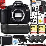 Canon EOS 5DS 50.6MP Digital SLR Camera Triple Battery & Battery Grip Complete Video Recording Bundle - 2018 Beach Camera 24 Piece Value Bundle