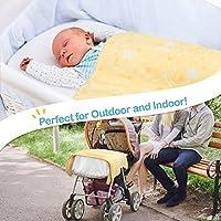 Blue - Elephant Bed| Fleece Toddler Reversible Blanket with Polka Dot| 34x39 Couch JOIE BEAN Soft Plush Baby Blanket| Infant Newborn Fuzzy Blanket for Crib Travel Stroller