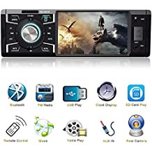 4.1 Inch Car Stereo with Bluetooth Single Din Car stereo FM Radio Car Audio player 1080P Video Support USB SD Card AUX Input Wireless Remote Control