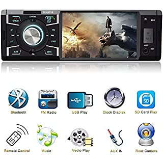 Sale 4.1 Inch Car Stereo with Bluetooth Single Din Car stereo FM Radio Car Audio player 1080P Video Support USB SD Card AUX Input Wireless Remote Control