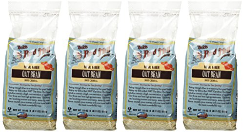 Bob's Red Mill Cereal Oat Bran, 18-Ounce (Pack of 4) (Bran Oat)