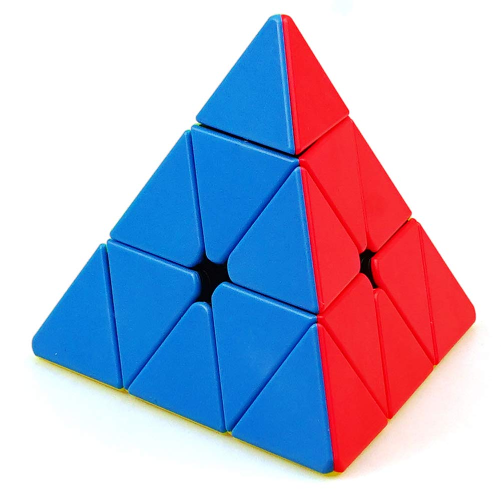 JIAAE Tank Pyramid Rubik's Cube Professional Competition Triangle Rubik Children Puzzle Colorful Toy