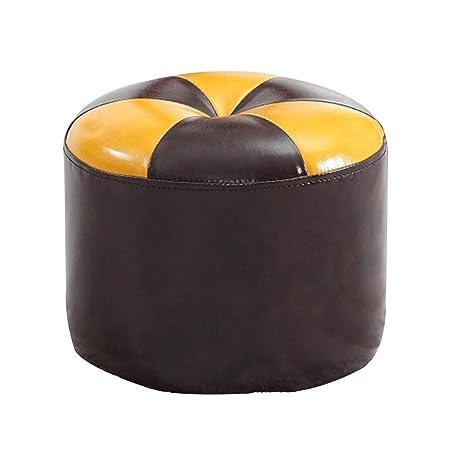 Fabulous Amazon Com Qqxx Zhangqiang Faux Leather Ottoman Foot Stool Machost Co Dining Chair Design Ideas Machostcouk