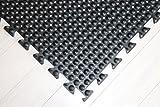 Rhino Mats UD33D Ultra-Dome Modular Drain-Thru Anti-Fatigue Welding Mat, 3' Width x 3' Length x 3/4'' Thickness, Solid Black